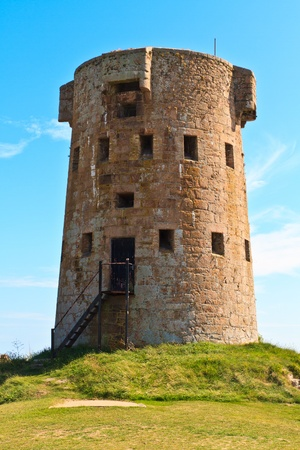 Coastal Tower of Jersey Island Fortifications at Le Hocq, Channel Islands, UK