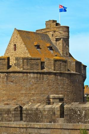 st malo: St. Malo Hotel de Ville, Torre e fortificazioni, Bretagna, Francia