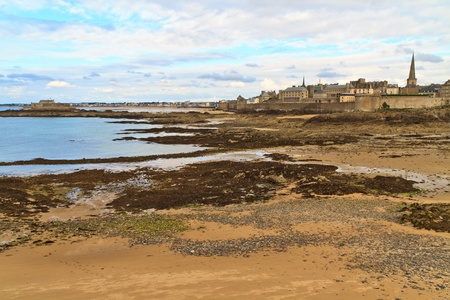 Saint Malo City View, France (from the island of Le Grand Be´) photo