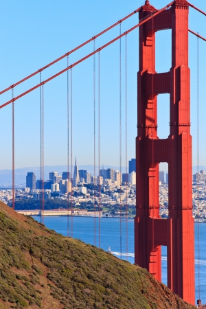 Golden Gate Bridge View on San Francisco, California photo
