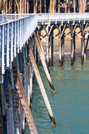 Detail view of beautiful old wooden pier Stock Photo - 13749677