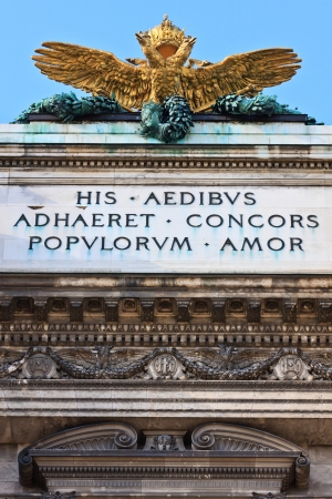 double headed eagle: Double headed Eagle on Austrian Imperial palace  Hofburg  in vienna