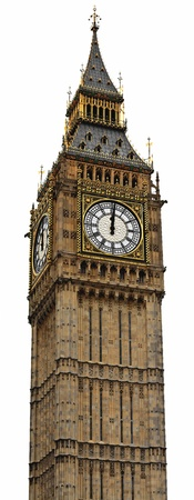 ben: Big Ben Panorama (HighRes) - Palace of Westminster, London Stock Photo