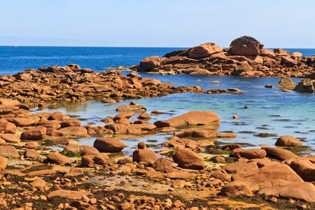 cote: Cote de granite Rose, Brittany Coast near Ploumanach, France