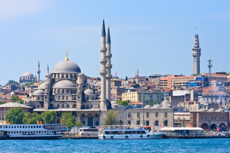 bosporus: Istanbul New Mosque and Ships, Turkey