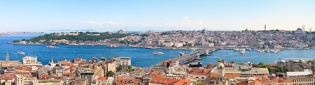 Istanbul Panoramic View from Galata tower to Golden Horn, Turkey photo
