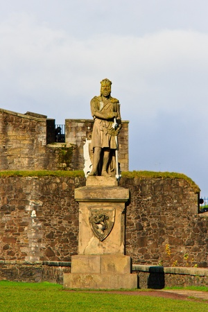 robert bruce: King Robert The Bruce statue, Castle of Stirling, Scotland Stock Photo