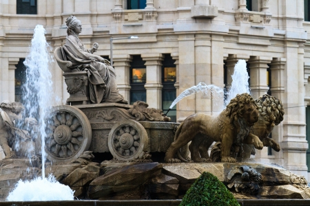 Plaza de Cibeles Fountain, Madrid, Spain photo