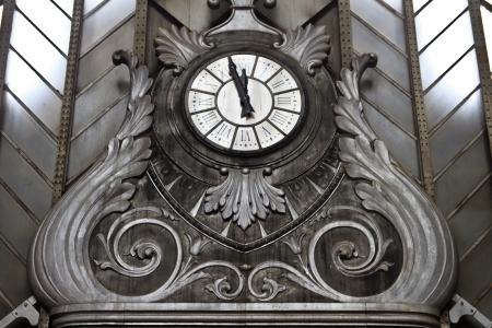 Vintage clock in Atocha Station, Madrid photo