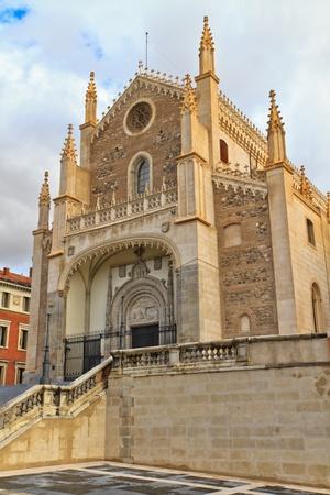 Facade of San Jeronimo el Real Church, Madrid, Spain photo