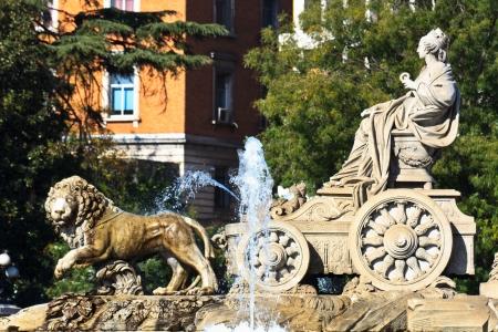 real madrid: Plaza de Cibeles Fountain, Madrid, Spain