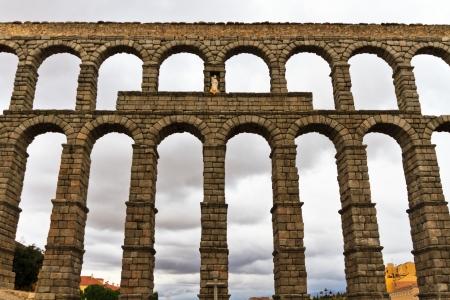 Roman aqueduct in Segovia  Spain  photo