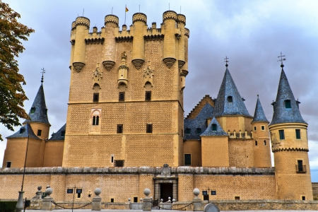 segovia: Castle   Alcazar of Segovia  Spain  Stock Photo