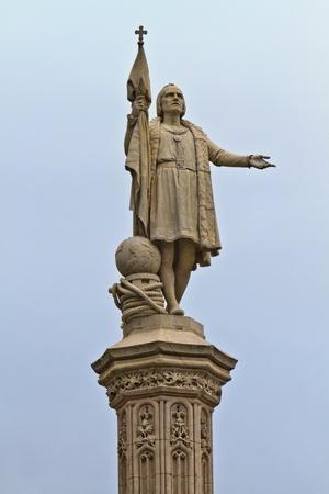 Christopher Columbus Statue, Madrid, Spain Stock Photo - 12435911