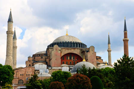 hagia: The famous Hagia Sophia in Sultanahmet, Istanbul, Turkey