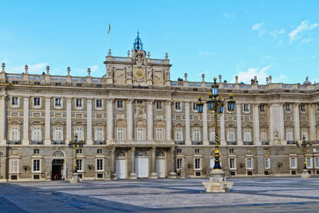 Royal Palace in Madrid, Spain, Europe Stock Photo