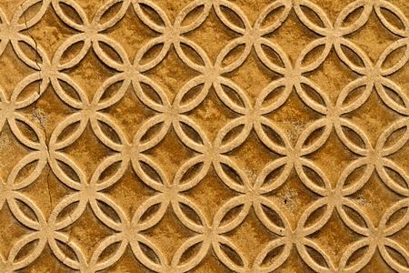 stucco facade: Moorish decorazione murale floreale, Spagna