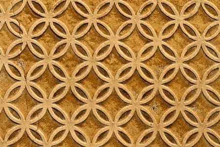 alhambra: Moorish floral wall decoration, Spain