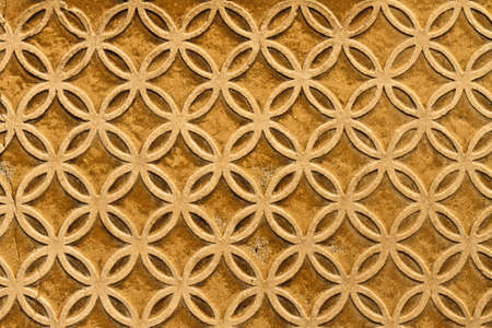 Moorish floral wall decoration, Spain Stock Photo - 12436367