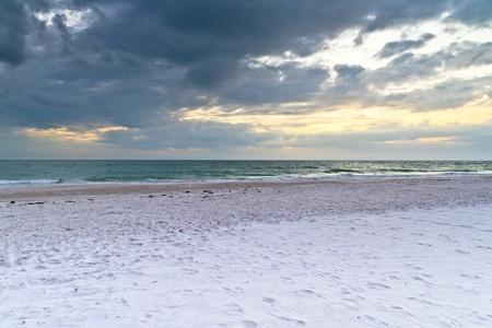 White beach shortly before thunderstorm Stock Photo - 13006519