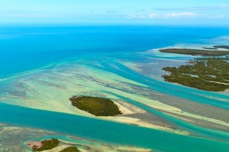 Florida Keys Aerial View Stock Photo