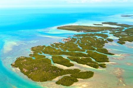 white key: Florida Keys Aerial View Stock Photo