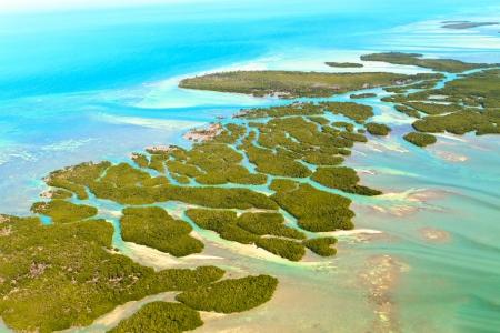 llave de sol: Cayos de Florida Vista a�rea Foto de archivo