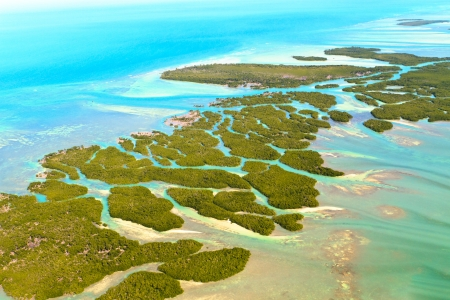 Florida Keys Aerial View Stock Photo