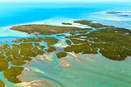 clave sol: Cayos de Florida Vista aérea Foto de archivo