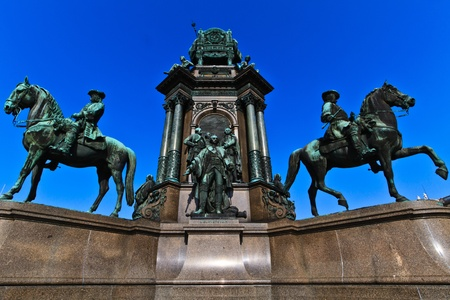 Vienna - Empress Maria Theresia Monument near Natural and Art History Museums, Austria photo