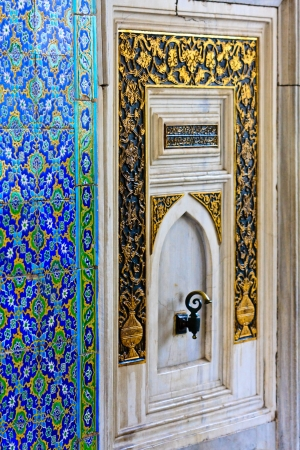 Istanbul Topkapi Palace Oriental Ornaments and Tiles (Details) Stock Photo