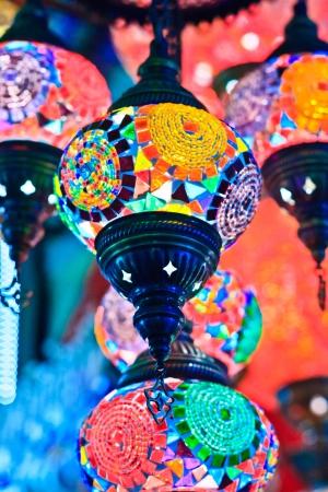kapalicarsi: Mosaic turkish lanterns in Grand Bazaar, Istanbul, Turkey