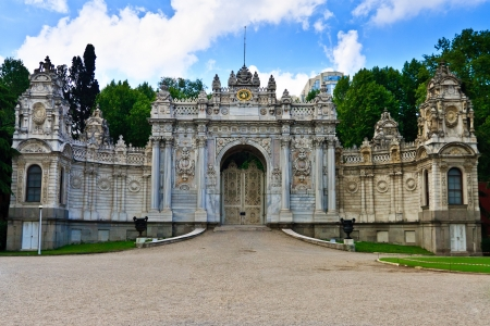 Istanbul - Gate Dolmabahce Palace, Turkey Stock Photo