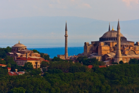 Istanbul View on Hagia Sophia, Turkey photo