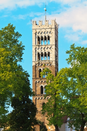 Lucca, Tuscany - View on tower of Dome (Italy) Stock Photo - 13686969