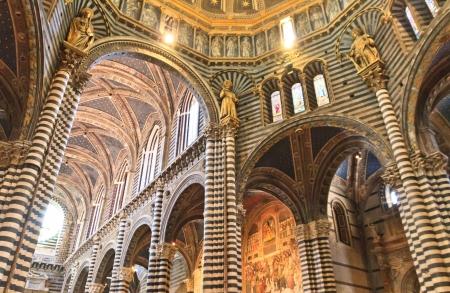 siena: Siena, Tuscany - Interior of dome (Duomo di Siena), Italy