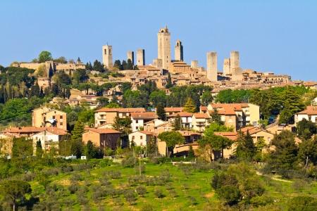 View on Tuscan City of San Gimignano, Tuscany, Italy photo