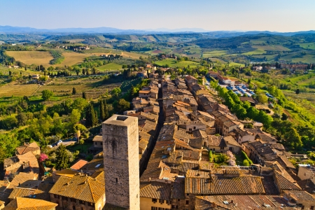 View on Tuscan City of San Gimignano, Tuscany, Italy photo