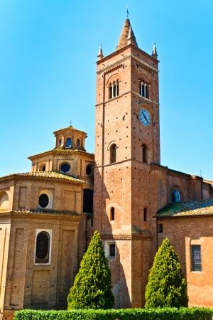 abbazia: Benedictine Abbey of Monte Oliveto Maggiore in Tuscany (Italy)