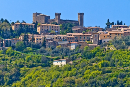 Montalcino - View on City and Castle, Tuscany. Italy