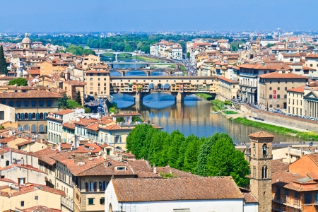 Ponte Vecchio Bridge, Florence, Tuscany, Italy Stock Photo