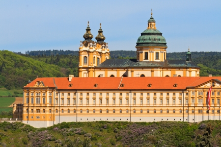 monastic sites: Melk Abbey is an Austrian Benedictine abbey and one of the worlds most famous monastic sites