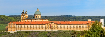 abbey: Melk Abbey is an Austrian Benedictine abbey and one of the worlds most famous monastic sites