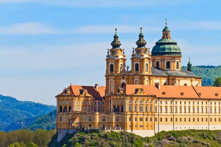 Melk Abbey is an Austrian Benedictine abbey and one of the world's most famous monastic sites Stock Photo
