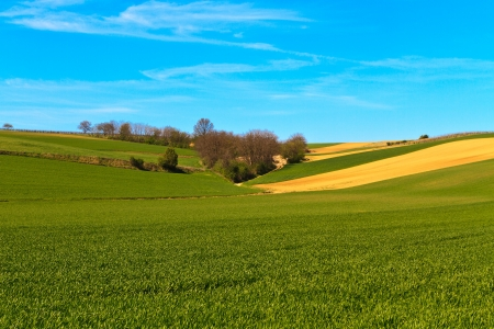 Hilly Landscape and blue sky (background) Stock Photo - 13961907
