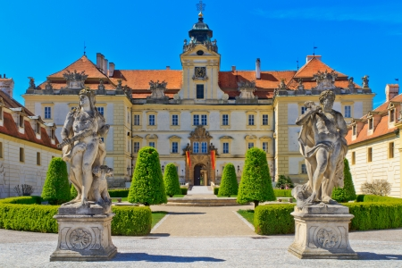 unesco in czech republic: Valtice is one of the most impressive baroque residences of Central Europe. It was built for the princes of Liechtenstein by Johann Bernhard Fischer von Erlach in the early 18th century.
