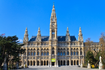 rathaus: City Hall of Vienna (Rathaus), Austria - No People