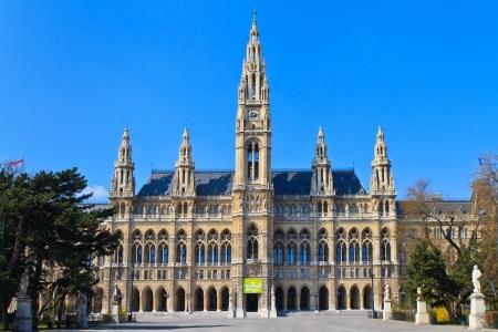 cityhall: City Hall of Vienna (Rathaus), Austria - No People