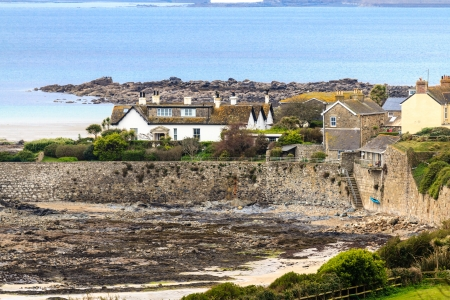 Village view of Marazion near St. Michael Mount, Cornwall, UK photo