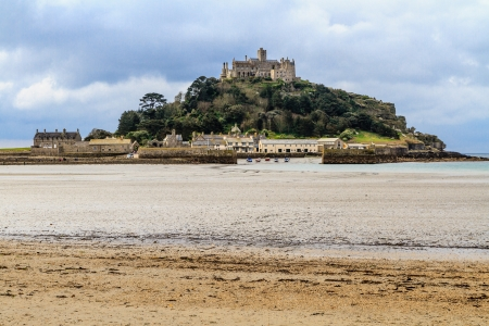 St. Michael´s Mount in Cornwall (near village of Marazion), UK photo